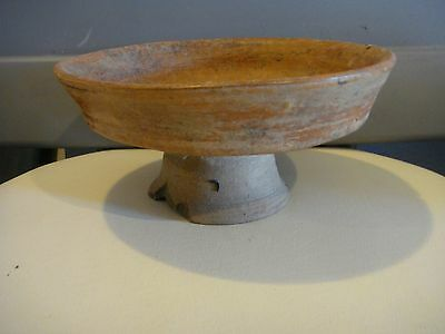 "Authentic 1,000+ Year Old  Pre Columbian Mayan Pedestal Bowl  Pottery  7.5""x3.5"""