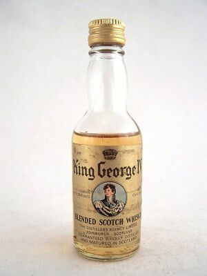Miniature circa 1970 KING GEORGE IV SCOTCH WHISKY Isle of Wine
