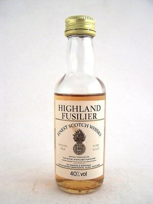 Miniature circa 1972 HIGHLAND FUSILIER 8YO Malt Whisky Isle of Wine