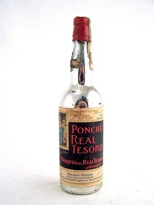 Miniature circa 1972 PONCHE REAL TESORO Liqueur Isle of Wine