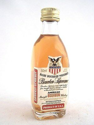 Miniature circa 1975 RARE BOURBON SUPREME WHISKEY Isle of Wine