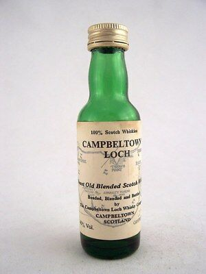 Miniature circa 1973 CAMPBELTOWN LOCH SCOTCH WHISKY Isle of Wine