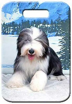 Set of 2 Bearded Collie Luggage Tags