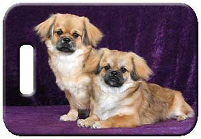 Set of 2 Tibetan Spaniel Luggage Tags