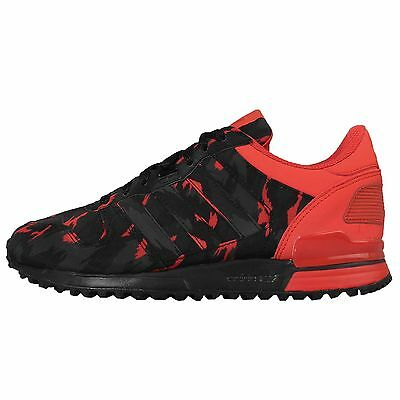 Adidas Originals ZX 700 Black Red Mens Running Shoes Sneakers B24837