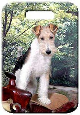 Set of 2 Wire Fox Terrier Luggage Tags