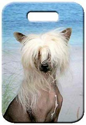 Set of 2 Chinese Crested - Hairless Luggage Tags