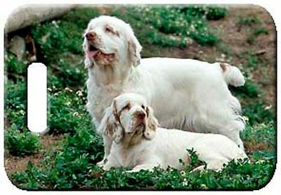 Set of 2 Clumber Spaniel Luggage Tags