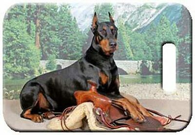Set of 2 Doberman Pinscher Luggage Tags