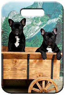 Set of 2 French Bulldog Luggage Tags