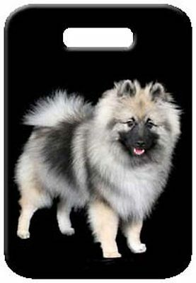 Set of 2 Keeshond Luggage Tags