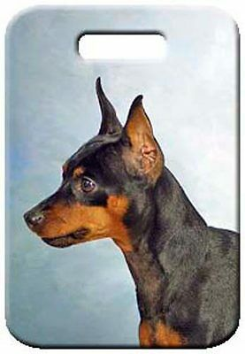 Set of 2 Miniature Pinscher Luggage Tags