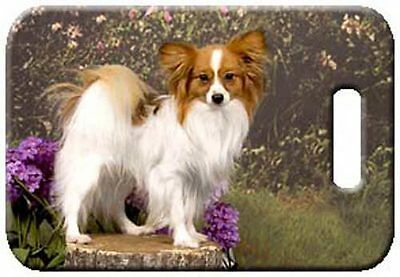 Set of 2 Papillon Luggage Tags