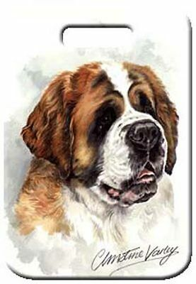 Set of 2 Saint Bernard Luggage Tags