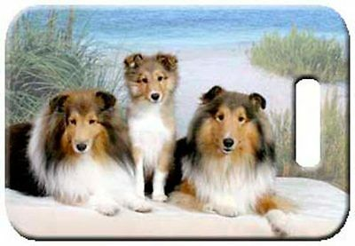 Set of 2 Shetland Sheepdog Luggage Tags