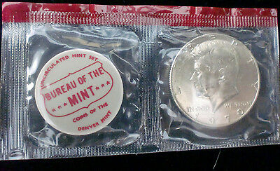 1970 D Kennedy Half Dollar In Mint Cello With Mint Seal Free Shipping In The Usa