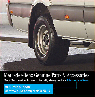 New Genuine Mercedes Benz Sprinter Rear Mudflap Set 2007 On - Mud flaps SWB