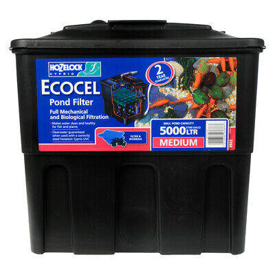 Hozelock Ecocel 5000 Fish Pond Gravity Filter Black Box Garden Fish Filtration