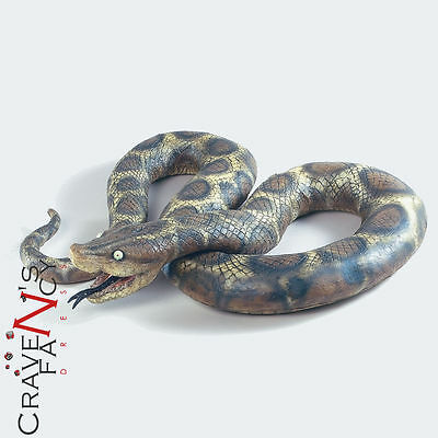 7' Python Large Rubber Scary Realistic Snake Halloween Prop Fancy Dress 7 Foot