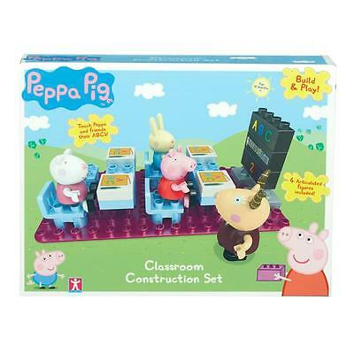 Peppa Pig ~ Classroom Construction Set ~ Inc 4 Articulated Figures