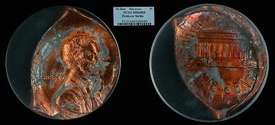 19XX Lincoln 1C PCGS MS64RD Foldover Strike (Lincoln Cent Mint Error)
