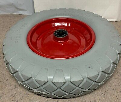 "16"" Wheelbarrow Wheel SOLID Puncture Proof 25mm Bearing (4.80 / 4.00 - 8)"