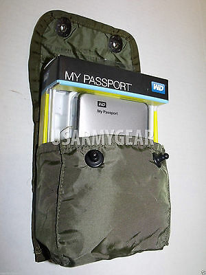 2 US Army First Aid Medical Instrument Utility Supply Pouch OD Green Alice Clips