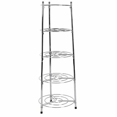 Five Tier Kitchen Pan Stand Saucepan Pot Rack Holder Chrome New By Home Discount