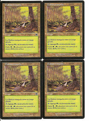 mtg Magic 4x Tranquil Thicket ( Maleza tranquila ) Spanish GOOD+