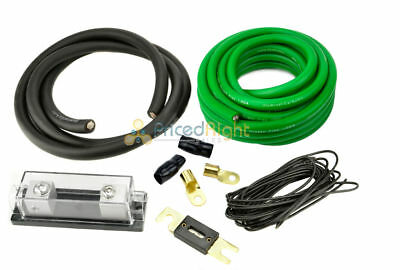 0 Gauge Power Only Amp Kit Amplifier Install Wiring Complete 1/0 Ga Cables 5500W