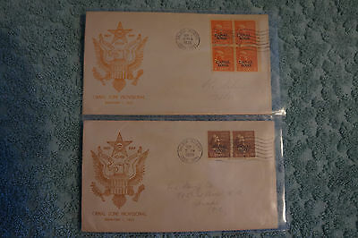 1939 first day cover canal zone provisional 9/1/1939