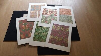 "Design - Pattern - Middle Ages - 12 col. plates - 24 x 17,7"" each - printed 1860"
