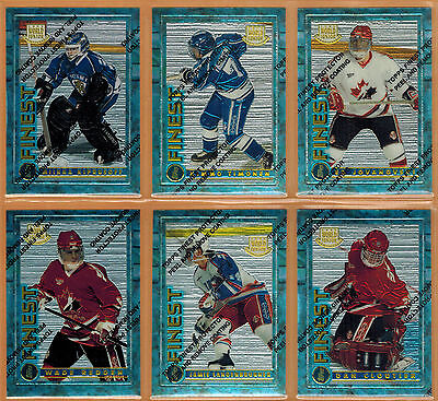 1994-95 , Topps , Finest , Hockey , Complete Set , 1/165