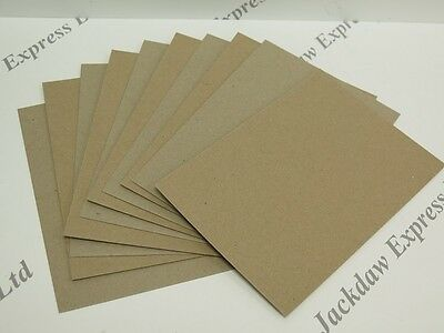 40 x A6 Recycled Brown Kraft Card 280gsm 148 x 105mm (Pic shows front/back)