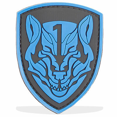 3D PVC MOH Wolfpack Military Army Tactical Airsoft Biker Morale Patch Blue
