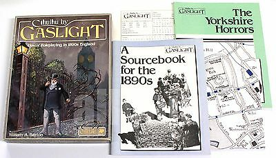 Call of Cthulhu 1890s CTHULHU BY GASLIGHT BOXED SET 1986 Chaosium #2314-X RARE
