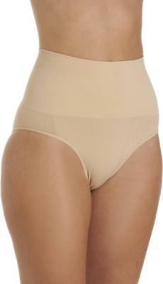 Camille Womens Ladies Beige Seamfree Comfort Shapewear High Waist Control Briefs
