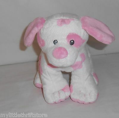 "2015 TY Plush Pluffies Pink and White Puppy ""Baby Pups"""