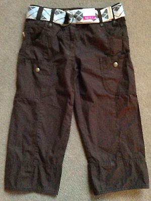 BNWT NEXT Brown Belted Cropped Trousers 9 Years 134cm