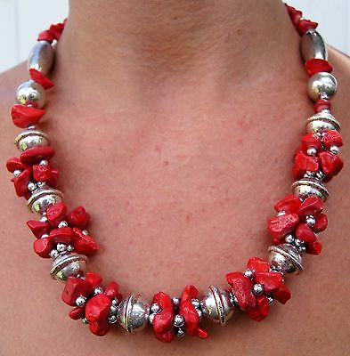 MOROCCAN NECKLACE ARABIC HANDMADE CORAL PENDANTS AFRICAN  BERBER Fashion Jewelry