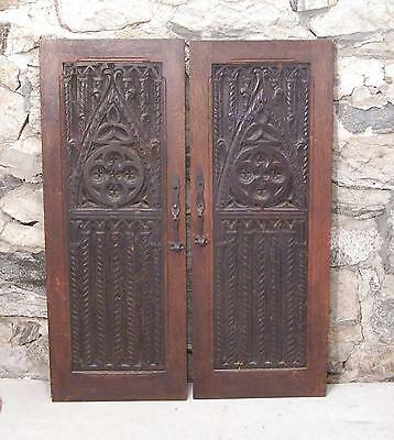 Pair 16th century Renaissance carved wood door panels