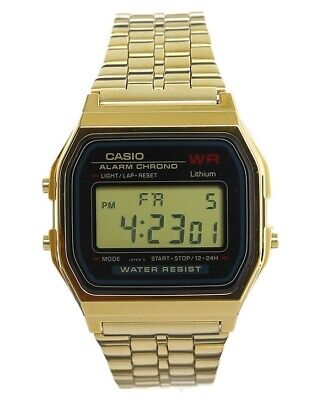 Casio Unisex Vintage Digital Quartz Gold Tone Stainless Steel Watch A159WGEA-1VT