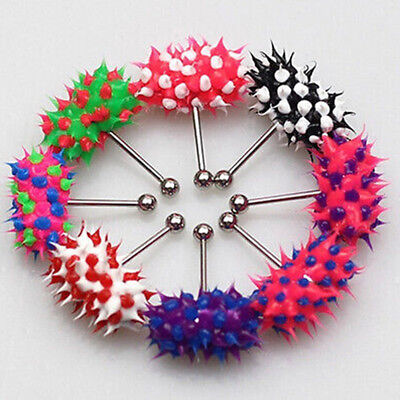 1Pc Colorful Koosh Vibrating Vibrate Tongue Bar Ring Stud Body Piercing Jewelry