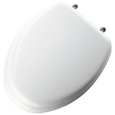 Bemis BEMIS Elongated Closed Front Toilet Seat in White 113CP 000 White 480870