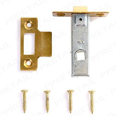 "75mm/3"" -QUALITY SOLID BRASS- Mortice Tubular Latch Interior Handle Door Frame"