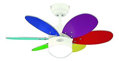 Westinghouse Turbo Ii 76 cm/ 30-inches Ceiling Fans White-Multi Coloured/ Was...
