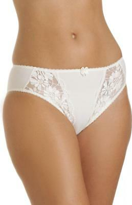 Camille Womens Ladies Lingerie Underwear Ivory Lace Classic Briefs Knickers