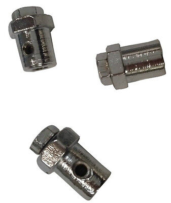 ukscooters LAMBRETTA GEAR  CABLE TRUNNIONS CHROME SET OF 3 NEW