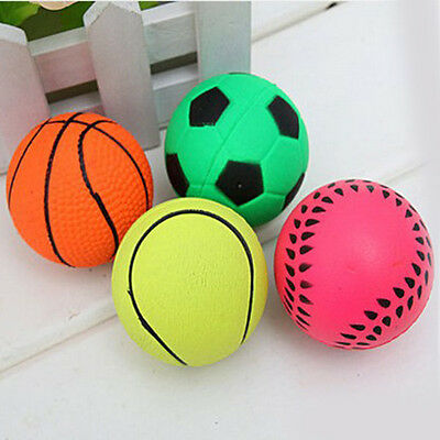 Lovely Solid Spherical Rubber Small Bouncy Ball Dog Training Chewing Pet Toys