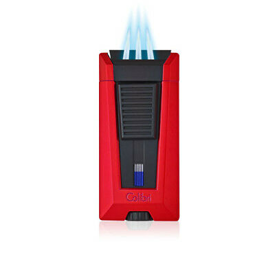 Colibri Stealth III Triple Torch Lighter - Metallic Red